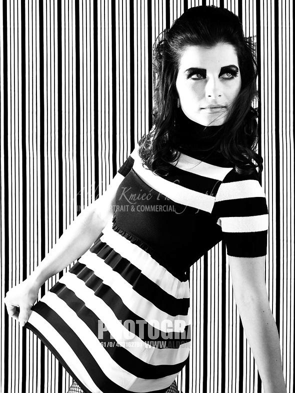 model portraits Ballarat jackie-kennedy-stripes-fashion-photo-shoot Ballarat Fashion Photography Hair & Beauty Model Portfolio Photography