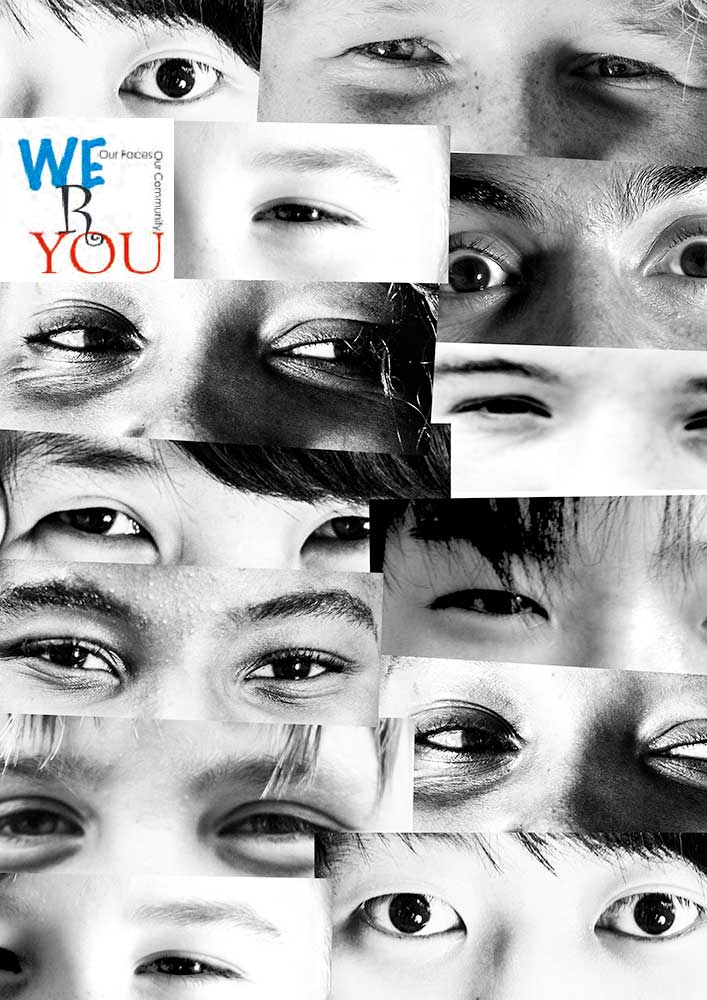 We R You Ballarat community photography project Photography & Design: Aldona Kmiec paste ups