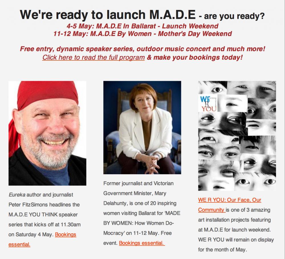 MADE Ballarat Newsletter