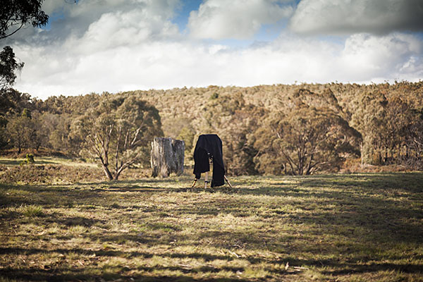 Bohemian Secret Australian Bush landscape large format camera