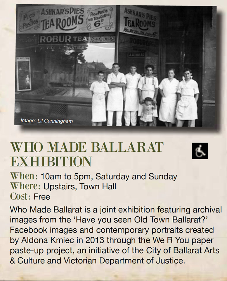 Who Made Ballarat Heritage Weekend Exhibition Aldona Kmiec Photography
