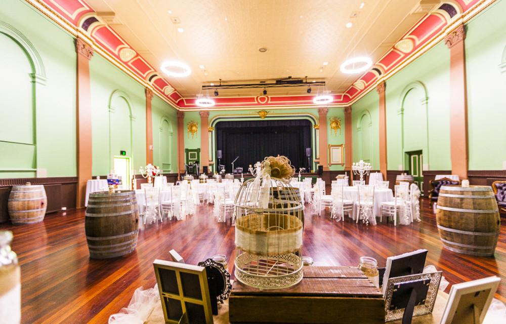 Ballarat Weddings Michael Unwin Wine Barrels Minerva Room set up