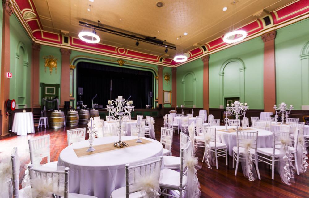 Ballarat Wedding Locations White Silk Chair Covers Mechanics Institute Minerva Room