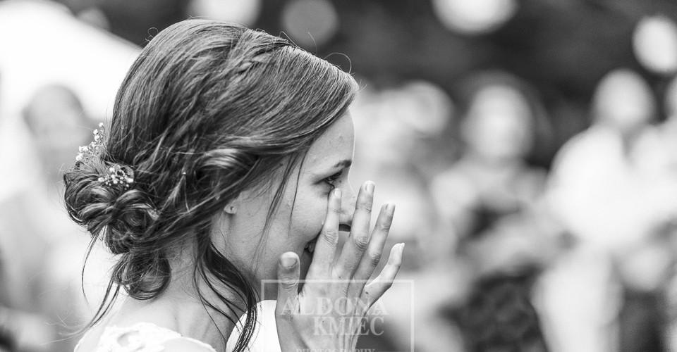 bride tears wedding photographs