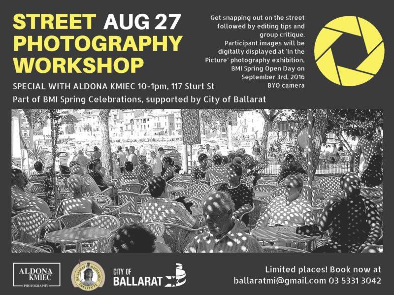STREET PHOTOGRAPHY WORKSHOP BMI Ballarat Mechanics Institute Aldona Kmiec Photography