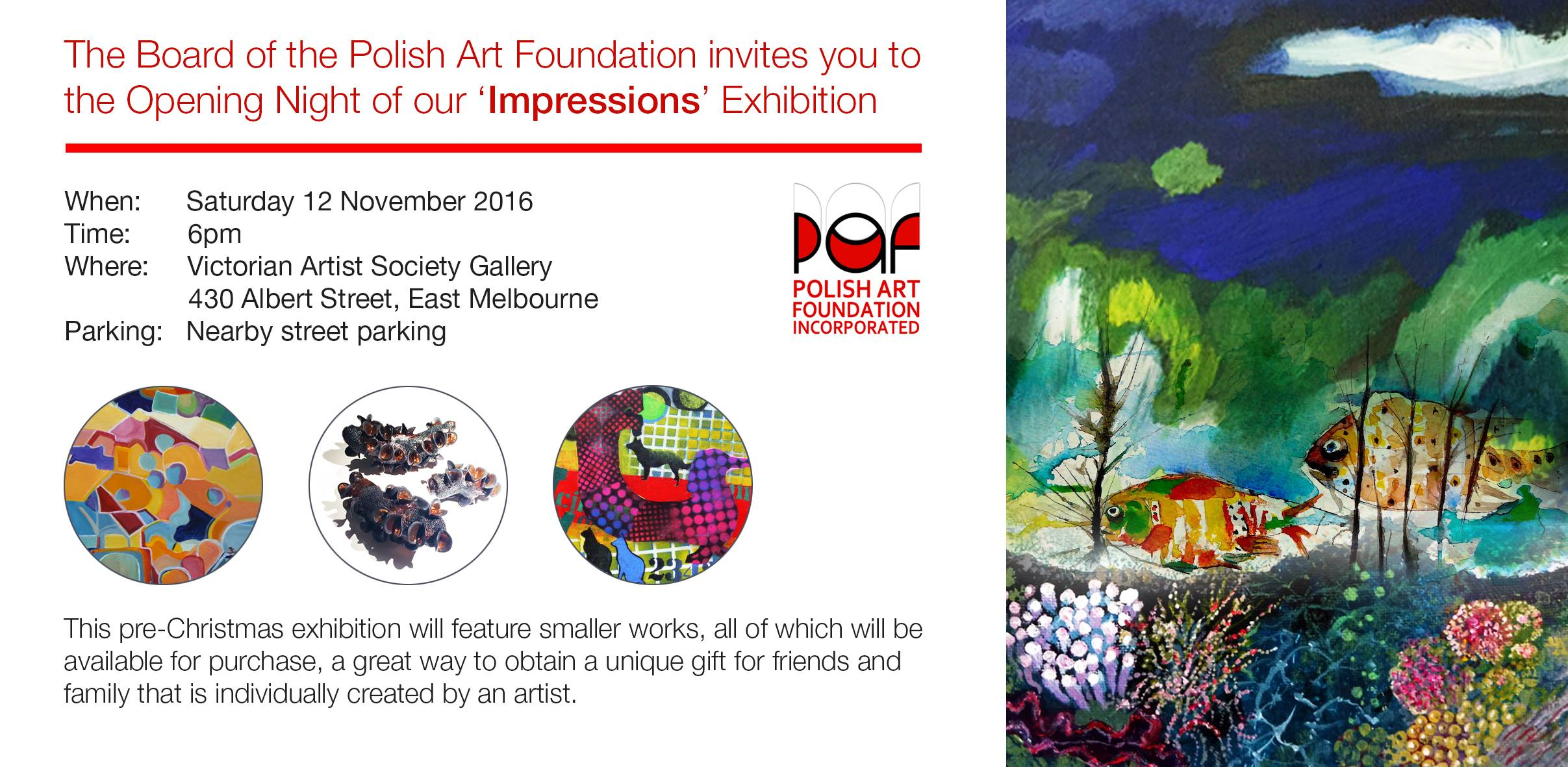 Polish Art Foundation Impressions Exhibition Melbourne