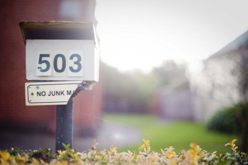 No Junk Mail Box Street Photography Gold Heritage City Soldiers Hill Ballarat Victoria Australia