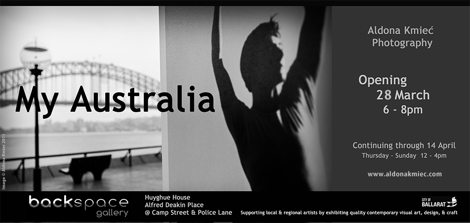 Backspace Gallery Ballarat My Australia Photography exhibition Invitation Aldona Kmiec Professional Photography