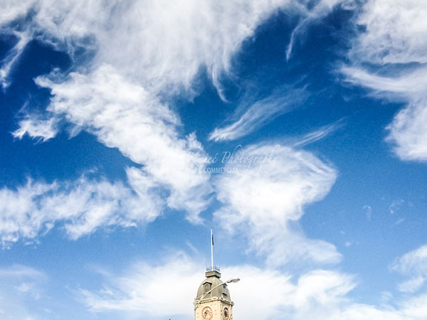 Painting like sky above Ballarat Town Hall Sturt Street