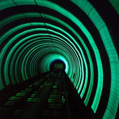 Light in a tunnel print Aldona Kmiec