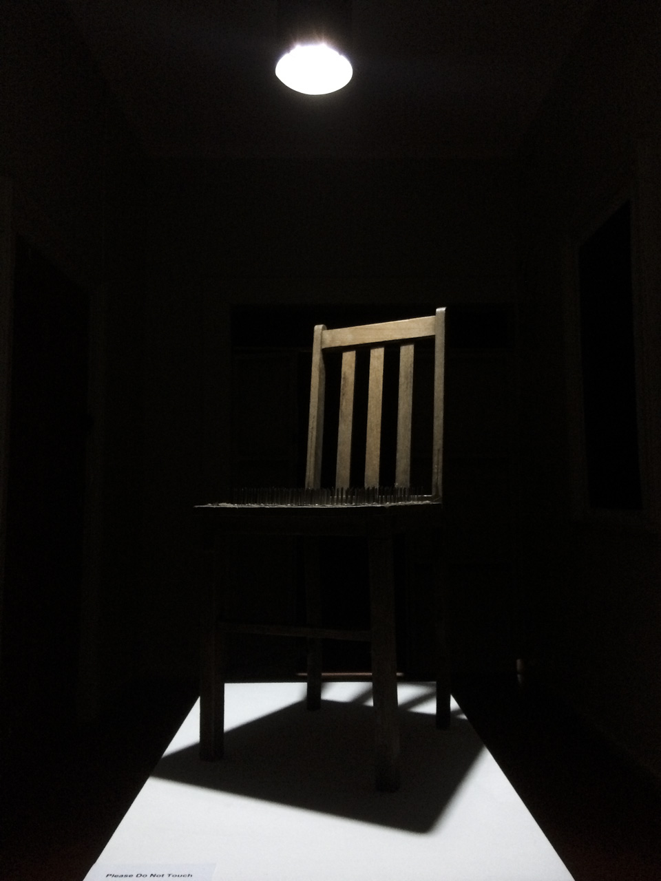 Photographs and Isolation Chair of Nails Ballarat Convent Aldona Kmiec art