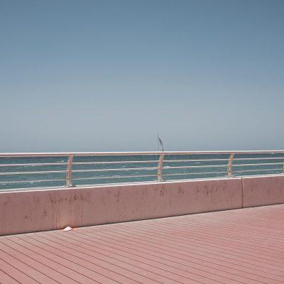 Dubai sail Jeffrey Smart landscape