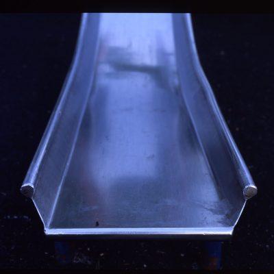 Blue steel slide playground